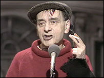 Waster: Geordie comic Bobby Thompson was more typical of an elderly Geordie male