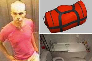 Kinky: the spy, the bag and the bath where one was found zipped into the other.