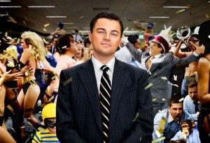 Degenerate: Leonardo Di Caprio as Wall Street broker Jordan